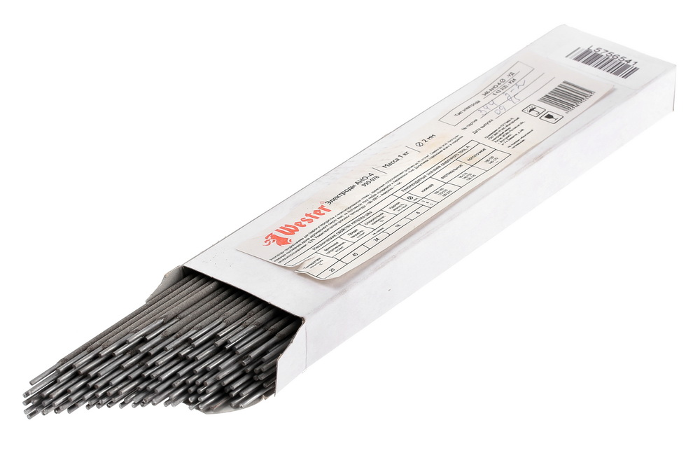 Электроды для сварки Wester АНО-4, 2.0мм, 1кг электроды для сварки wester 990 019 1кг 2 5мм