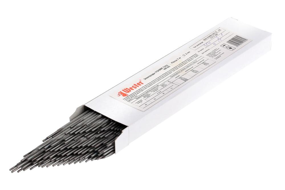 Электроды для сварки Wester УОНИИ-13/55, 2.0мм, 1кг электроды для сварки wester ано 4 3 0мм 1кг