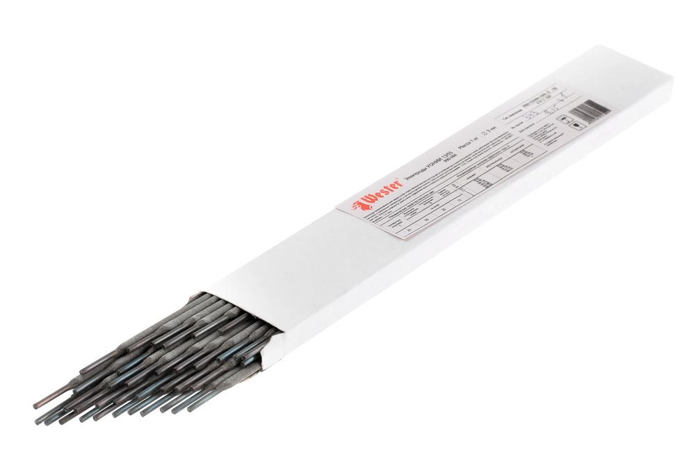 Электроды для сварки Wester УОНИИ-13/55, 3.0мм, 1кг электроды для сварки wester ано 4 3 0мм 1кг