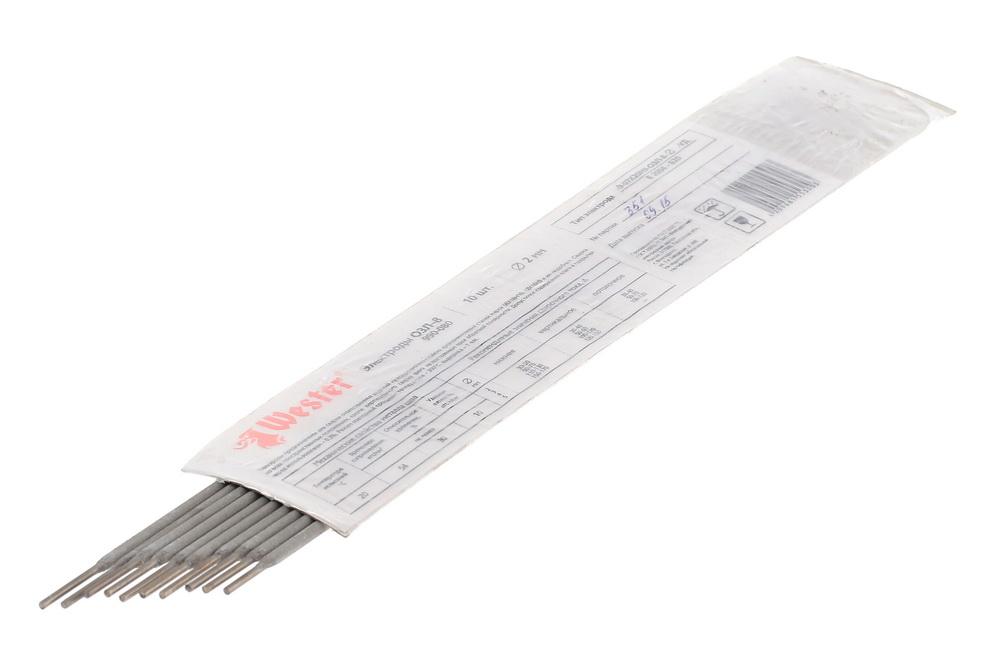 Электроды для сварки Wester ОЗЛ-8, 2.0мм, 10шт. электроды для сварки wester ано 4 3 0мм 1кг