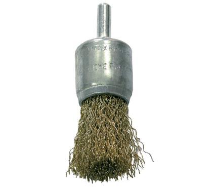 Кордщетка PROLINE кисть 17мм для дрели гофрированная латунированная сталь (32861:P)