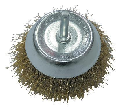 Кордщетка PROLINE чаша 50мм для дрели гофрированная латунированная сталь (32845:P)