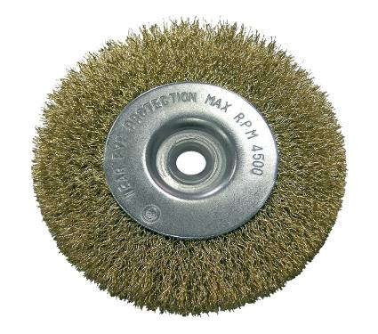 Кордщетка PROLINE плоская 150мм для УШМ гофрированная латунированная сталь (32815:P)
