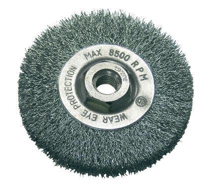 Кордщетка PROLINE плоская 100мм для УШМ гофрированная сталь (32520:P)