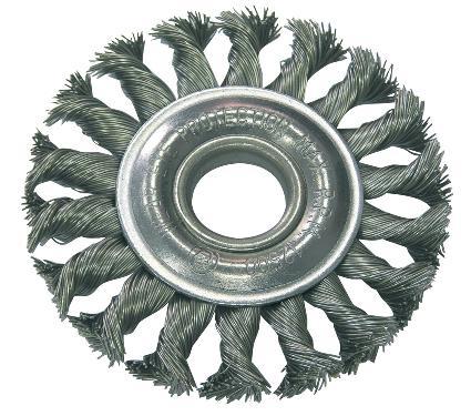 Кордщетка PROLINE плоская 150мм для УШМ витая сталь (32555:P)