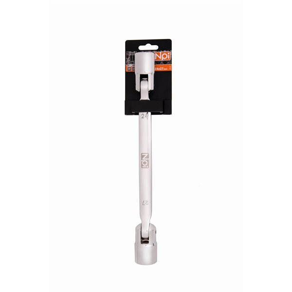 Ключ торцевой шарнирный Npi 45137 торцевой прямой шарнирный ключ 12х13мм 220мм jtc 3936