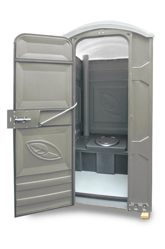 Туалетная кабина ЭКОЛАЙТ Универсальная серая от 220 Вольт