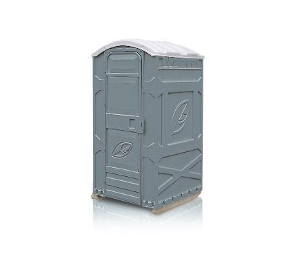 Туалетная кабина ЭКОЛАЙТ Универсальная серая