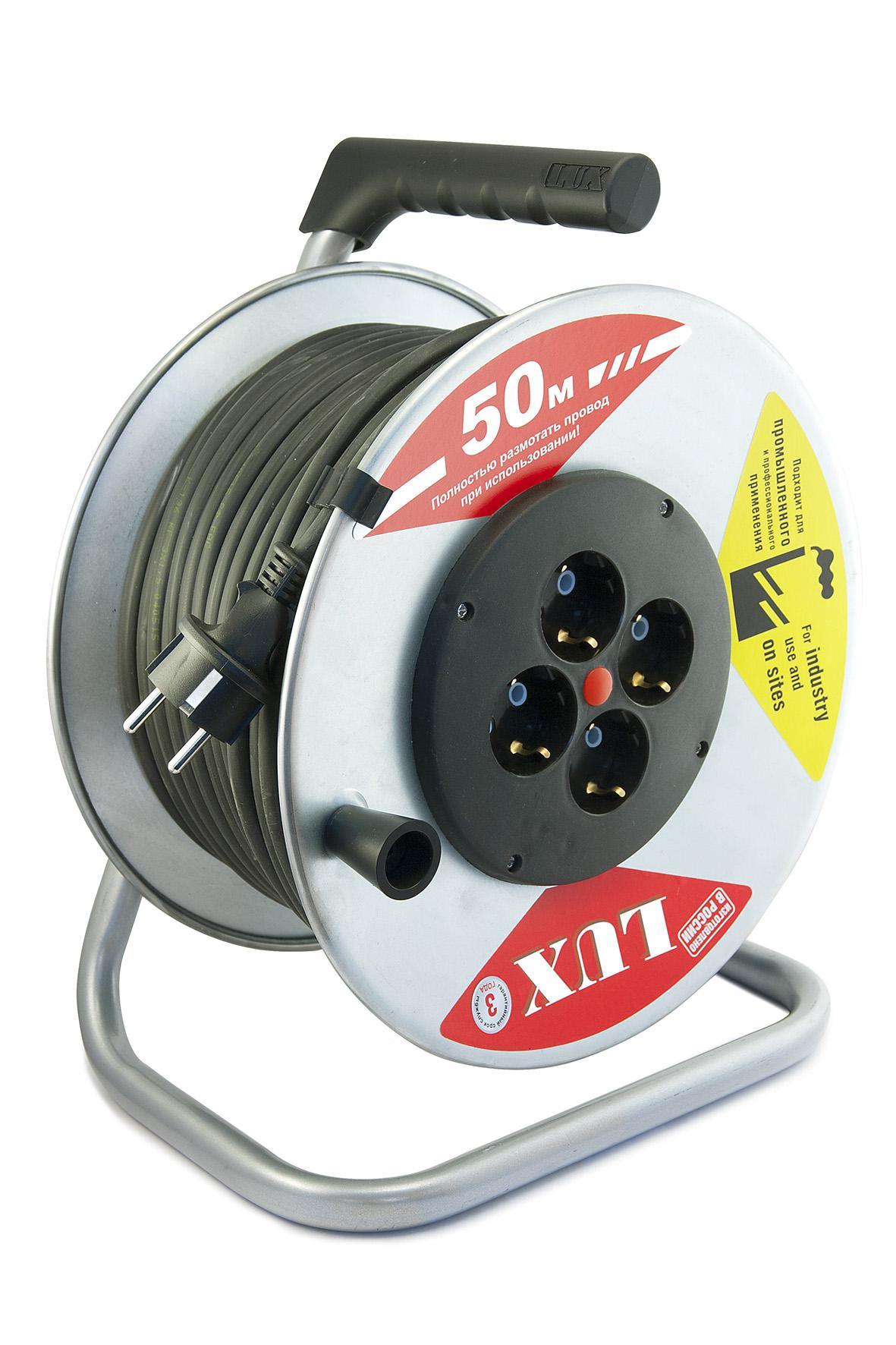 Удлинитель Lux К4-Е-50 45150 КГ 3х2.5