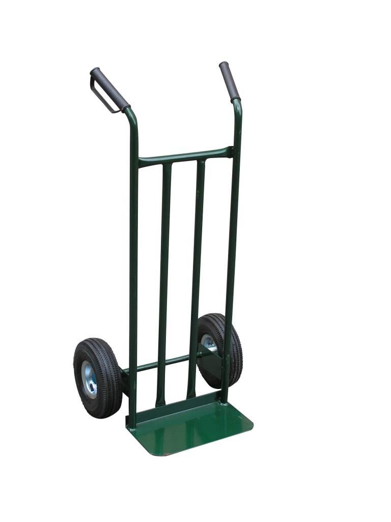 Тележка Swd proffГрузовые тележки и платформы<br>Тип тележки: тележка, Колеса: есть, Количество колес: 2, Материал: металл, Материал колес: резина, Диаметр колес, мм: 250, Грузоподъемность: 180, Размеры: 1120х460х522, С листом: есть, Количество ручек: 2<br>