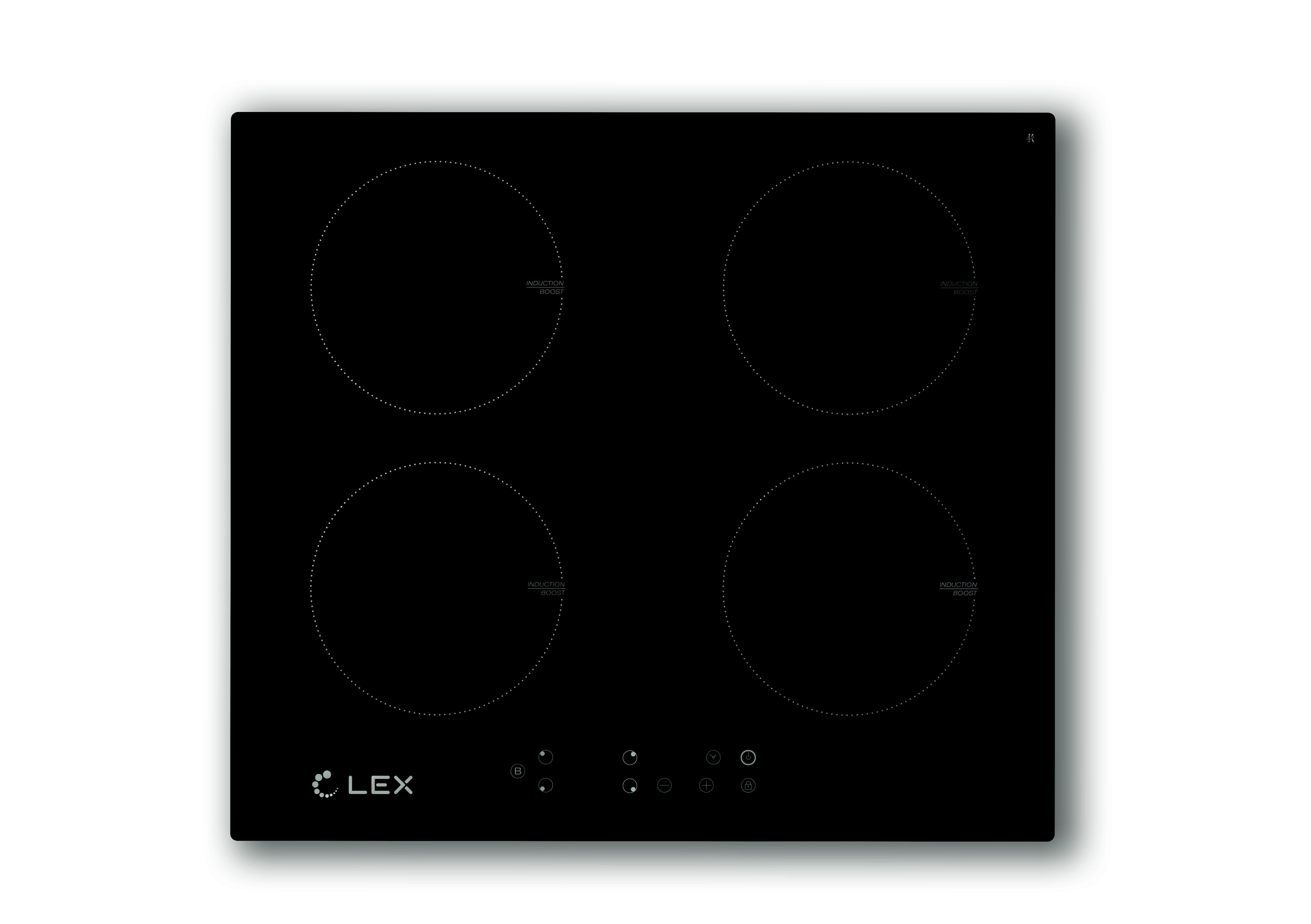 Встраиваемая индукционная варочная панель Lex Evi 640 bl