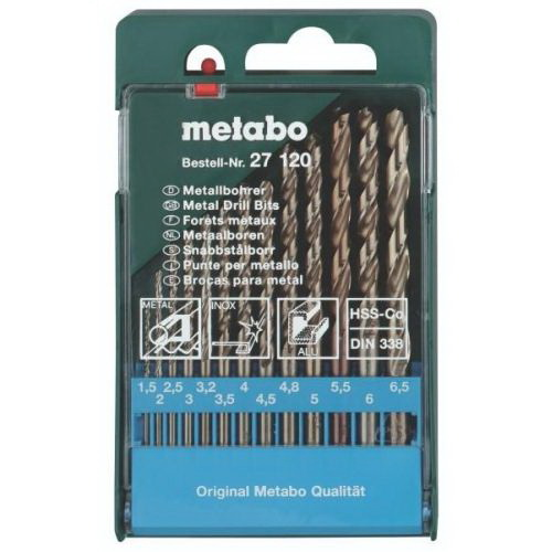 Набор сверл Metabo 627120000 набор бит metabo 626701000 26 предм