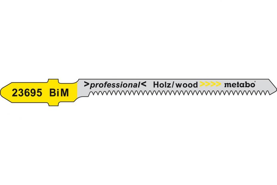 Пилки для лобзика Metabo 623695000 пилки для лобзика по металлу для прямых пропилов bosch t118a 1 3 мм 5 шт