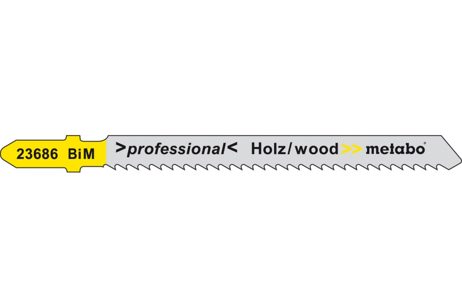 Пилки для лобзика Metabo 623686000 пилки для лобзика по металлу для прямых пропилов bosch t118a 1 3 мм 5 шт