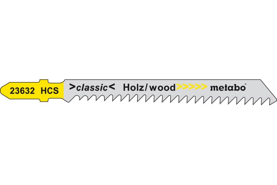 Пилки для лобзика Metabo 623632000 пилки для лобзика по металлу для прямых пропилов bosch t118a 1 3 мм 5 шт