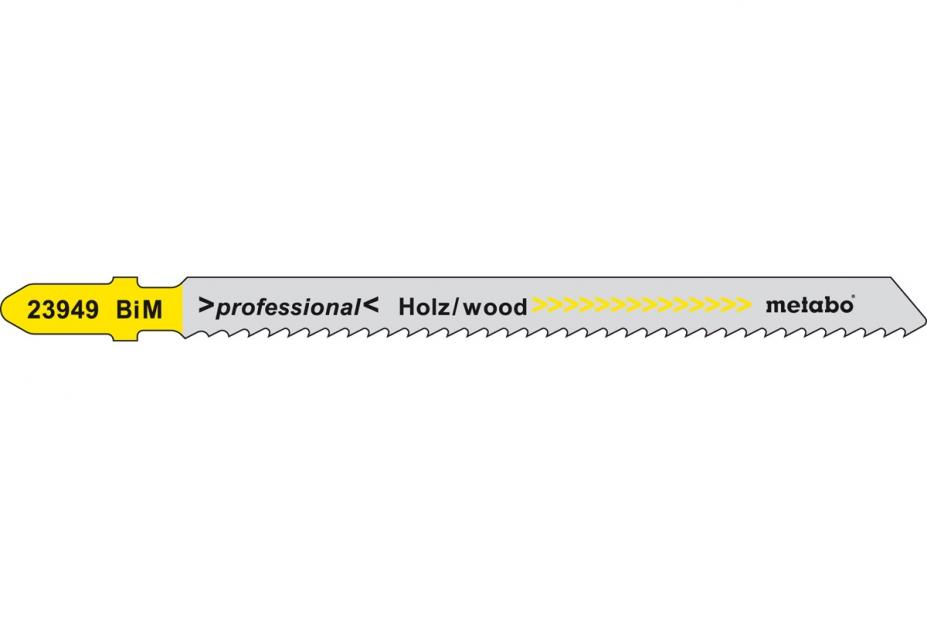 Пилки для лобзика Metabo 623949000 пилки для лобзика по металлу для прямых пропилов bosch t118a 1 3 мм 5 шт
