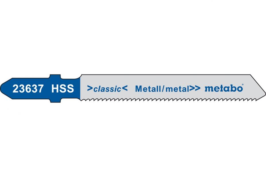Пилки для лобзика Metabo 623965000 пилки для лобзика по металлу для прямых пропилов bosch t118a 1 3 мм 5 шт