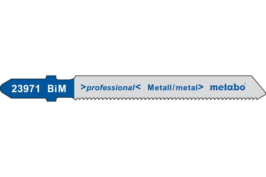 Пилки для лобзика Metabo 623971000 пилки для лобзика по металлу для прямых пропилов bosch t118a 1 3 мм 5 шт