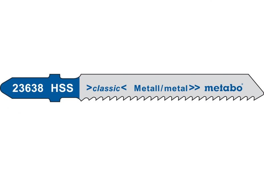 Пилки для лобзика Metabo 623970000 пилки для лобзика по металлу для прямых пропилов bosch t118a 1 3 мм 5 шт
