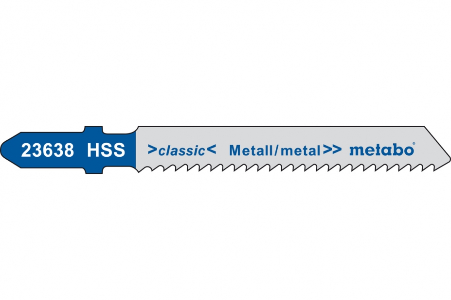 Пилки для лобзика Metabo 623636000 пилки для лобзика по металлу для прямых пропилов bosch t118a 1 3 мм 5 шт