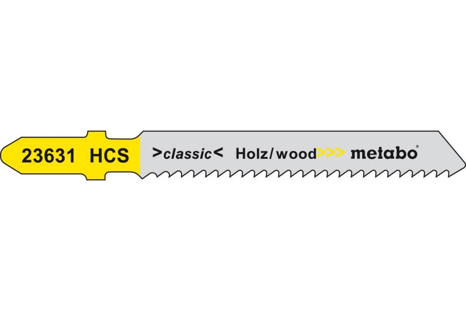Пилки для лобзика Metabo 623631000 пилки для лобзика по металлу для прямых пропилов bosch t118a 1 3 мм 5 шт