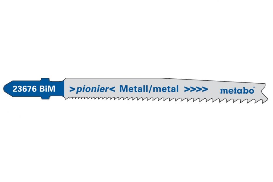 Пилки для лобзика Metabo 623676000 пилки для лобзика по металлу для прямых пропилов bosch t118a 1 3 мм 5 шт