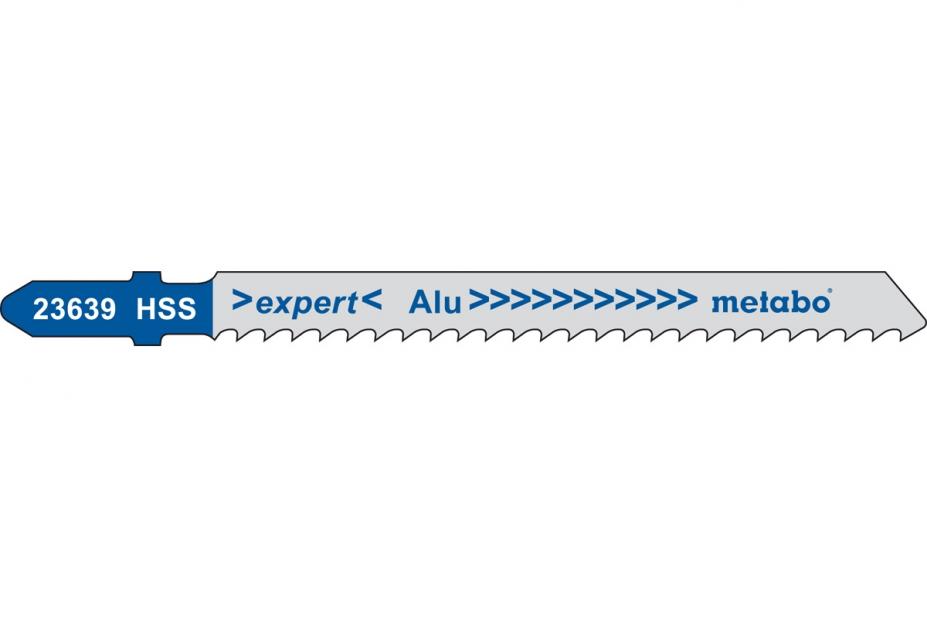 Пилки для лобзика Metabo 623639000 пилки для лобзика по металлу для прямых пропилов bosch t118a 1 3 мм 5 шт