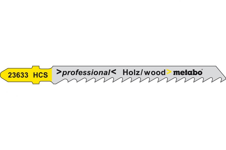 Пилки для лобзика Metabo 623633000 пилки для лобзика по металлу для прямых пропилов bosch t118a 1 3 мм 5 шт