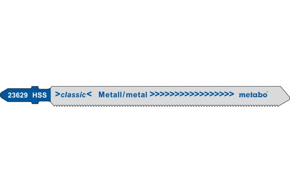 Пилки для лобзика Metabo 623629000 пилки для лобзика по металлу для прямых пропилов bosch t118a 1 3 мм 5 шт