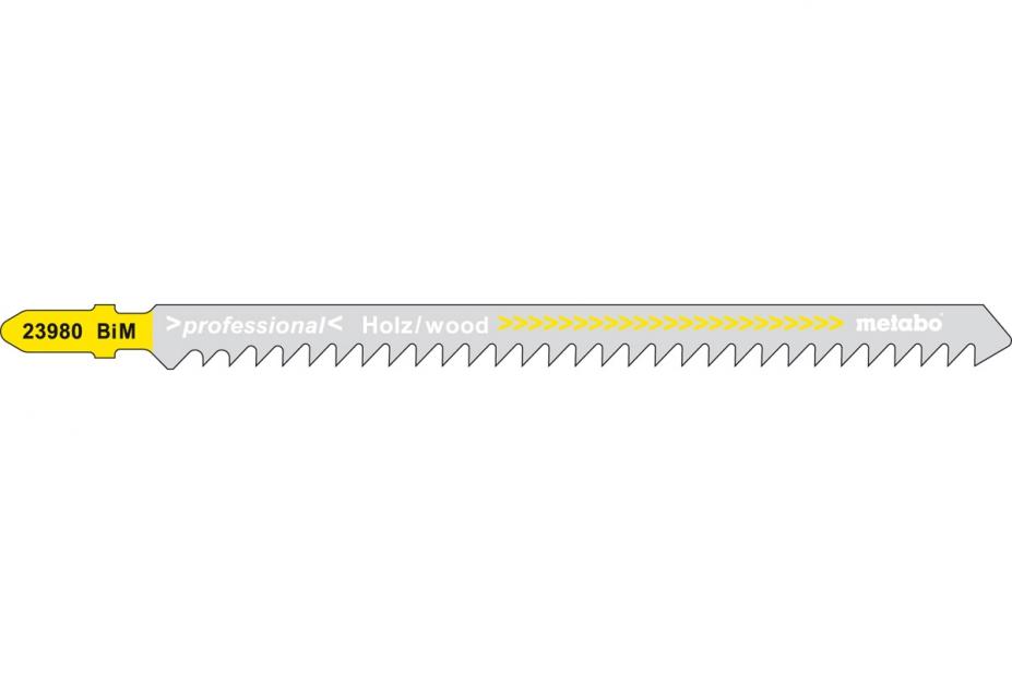 Пилки для лобзика Metabo 623980000 пилки для лобзика по металлу для прямых пропилов bosch t118a 1 3 мм 5 шт