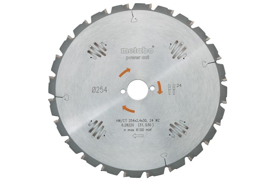 Диск пильный твердосплавный Metabo 628005000 пильный диск по дереву 216x1 8x30 мм metabo 628065000