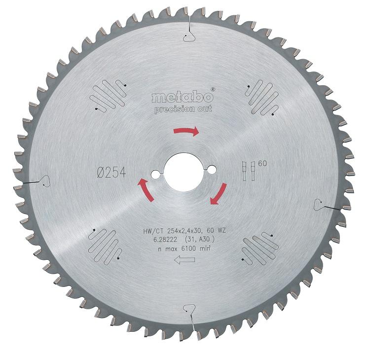 Диск пильный твердосплавный Metabo 628040000 пильный диск по дереву 216x1 8x30 мм metabo 628065000