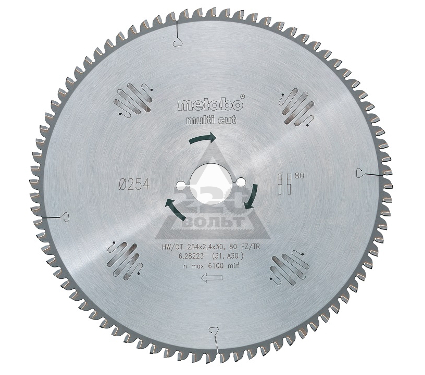 Диск пильный твердосплавный METABO 628079000