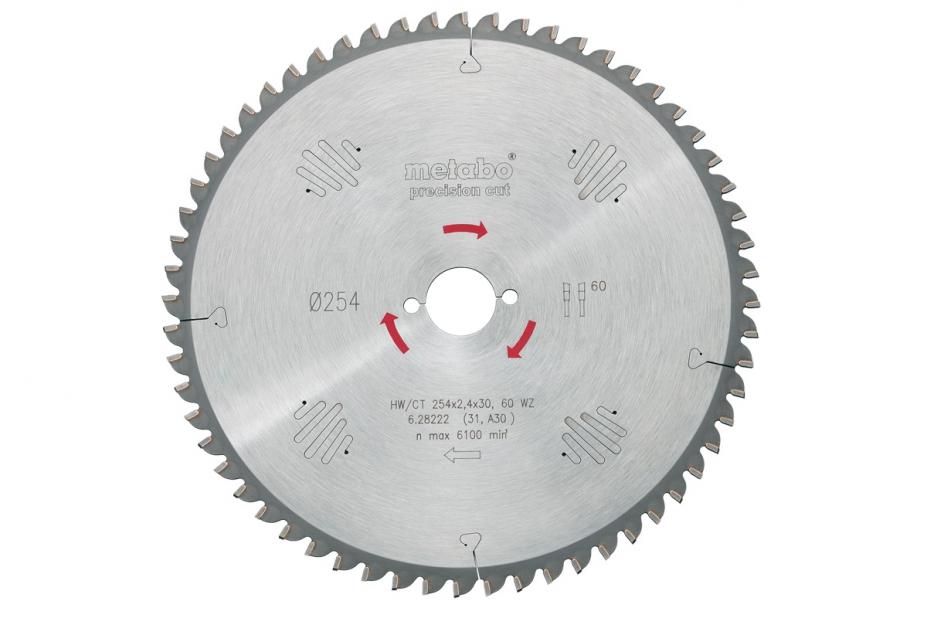 Диск пильный твердосплавный Metabo 628043000 пильный диск по дереву 216x1 8x30 мм metabo 628065000