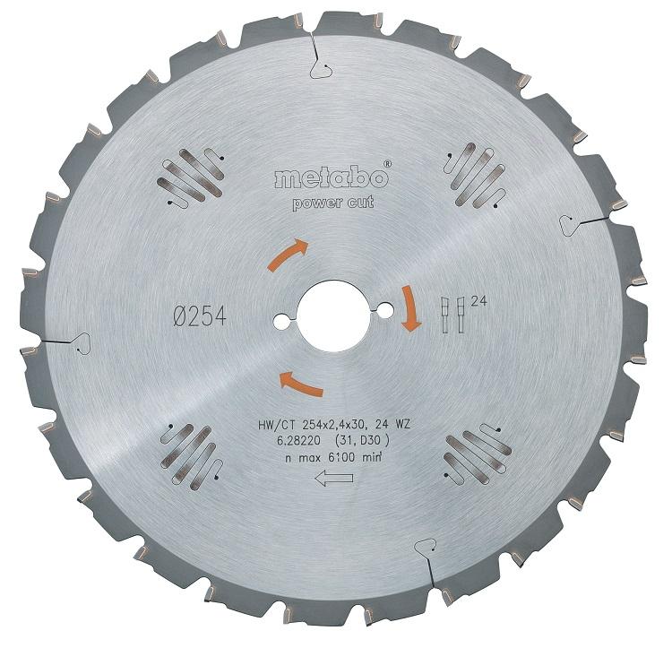 Диск пильный твердосплавный Metabo 628014000 пильный диск по дереву 216x1 8x30 мм metabo 628065000