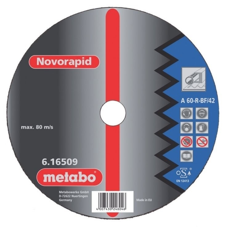 Круг отрезной Metabo 125х1х22 616506000 круг отрезной hammer 115 x 1 2 x 22 по металлу и нерж стали коробка 400шт