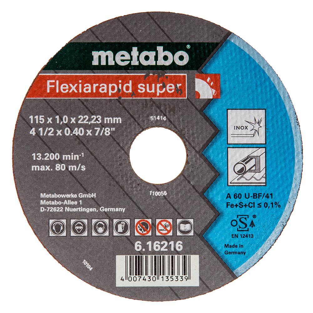 Круг отрезной Metabo 115х1х22 616216000 фреза metabo rf14 115 чашка острая