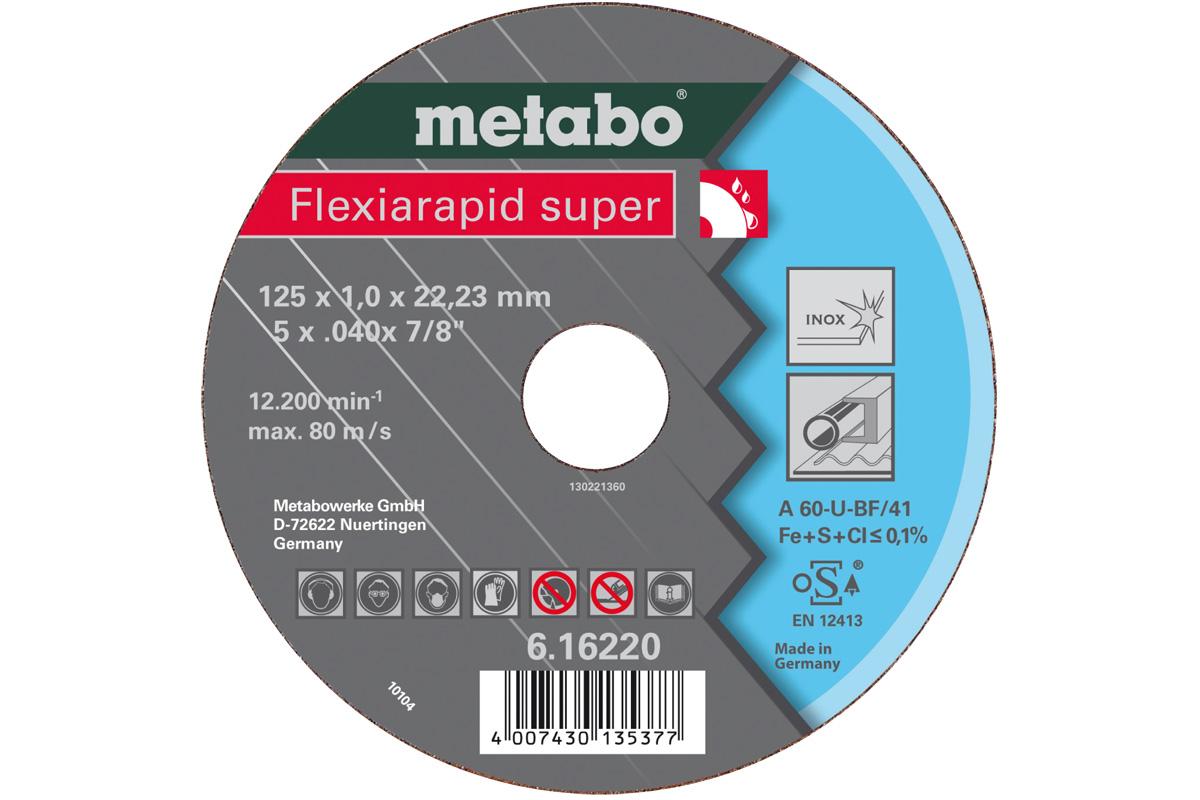Круг отрезной Metabo 125х1х22 616220000 круг отрезной hammer 115 x 1 2 x 22 по металлу и нерж стали коробка 400шт
