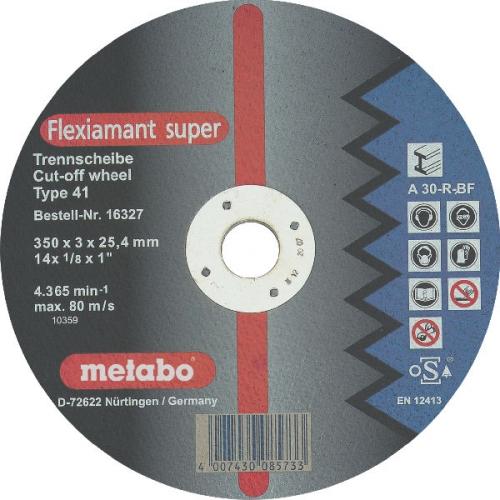 Круг отрезной Metabo 350х3х25.4 616338000 отрезной круг metabo flexiamant s 350x3x25 4 прямой a24m 616338000