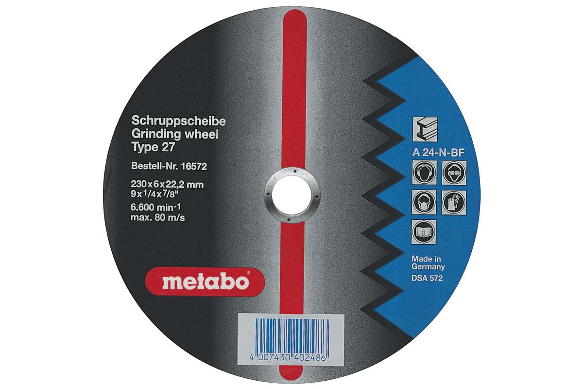 Круг обдирочный Metabo 230х6х22мм a24n