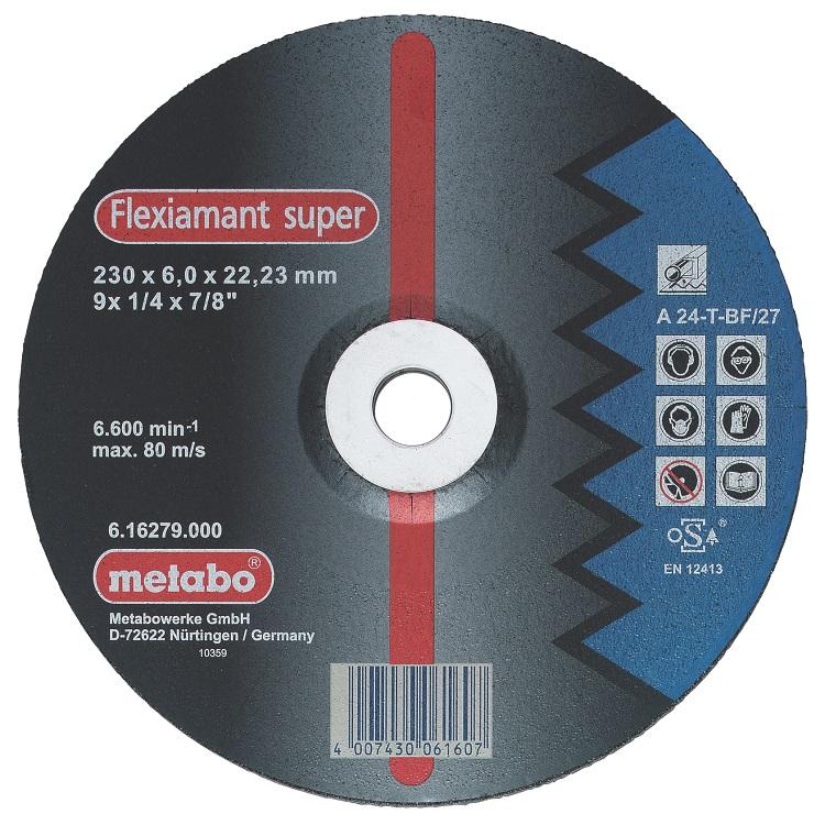 Круг зачистной Metabo 115х6х22мм a24t