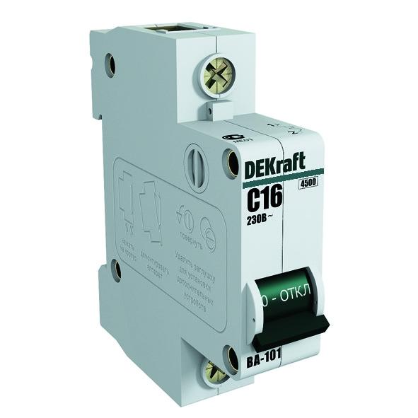 Выключатель Dekraft 11054dek автомат 3p 32а тип c 4 5ка dekraft ba 101