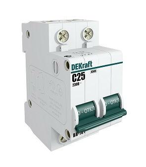 Выключатель Dekraft 11080dek автомат 3p 32а тип c 4 5ка dekraft ba 101
