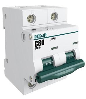 Выключатель Dekraft 13021dek автомат 1p 20а тип c 4 5ка dekraft ba 101