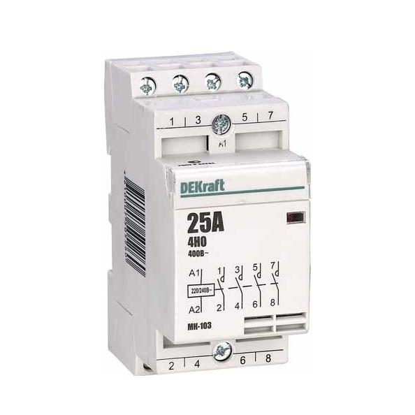 Контактор Dekraft 18067dek выключатель одноклавишный legrandquteo о у влагозащищенный ip 44 белый