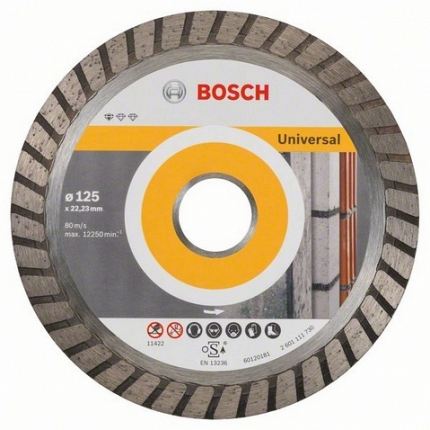 Круг алмазный Bosch 2608603250 диск отрезной алмазный турбо 125х22 2mm 20007 ottom 125x22 2mm