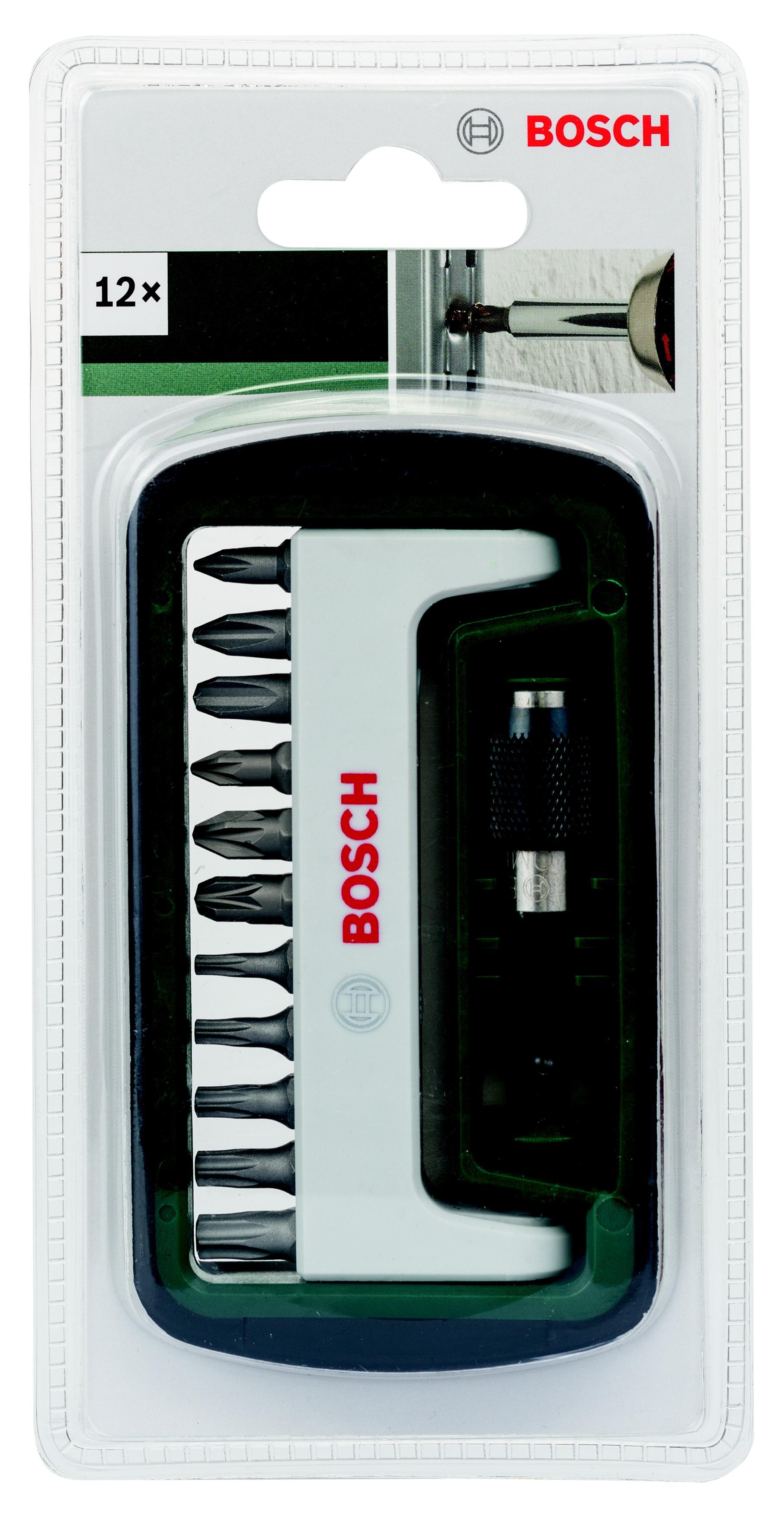 Набор бит Bosch 2608255993 набор бит bosch с быстрозажимным держателем 12 предметов 2608522126