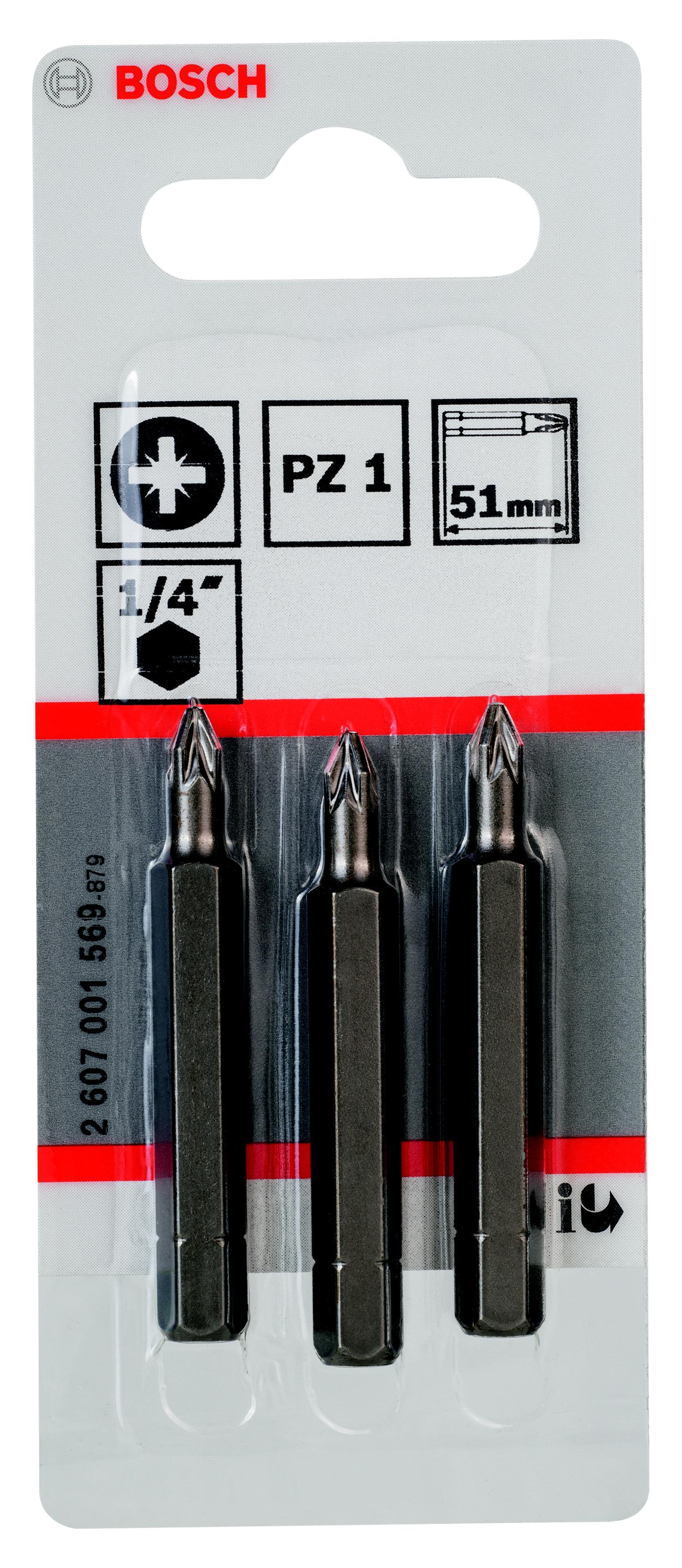 Бита Bosch 2607001569 бита bosch pz1 25 мм 3 шт