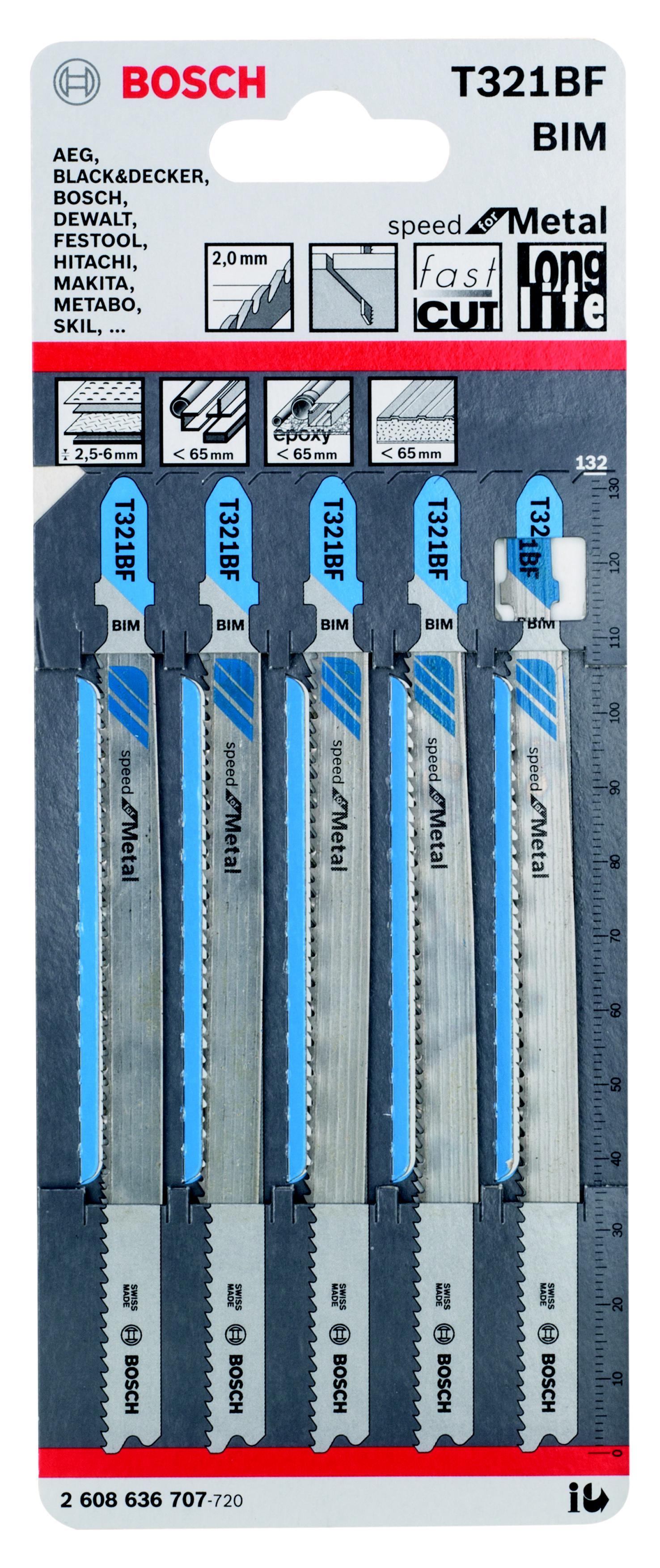 Пилки для лобзика Bosch 2608636707 пилки для лобзика универсальные набор 5 шт стандарт
