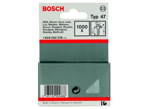 Гвозди для степлера BOSCH 1 х 1.25 х 23 мм 1000 шт. (1609200378)